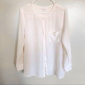 Equipment silk blouse shirt size S
